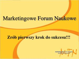 Marketingowe Forum Naukowe