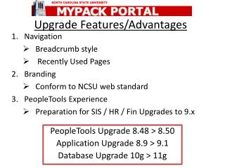 Upgrade Features/Advantages