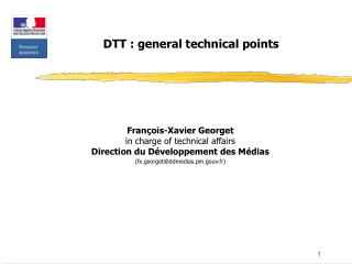 DTT : general technical points