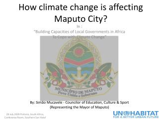 How climate change is affecting Maputo City?