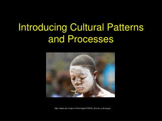 Introducing Cultural Patterns and Processes