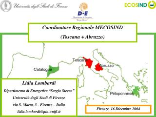 """Lidia Lombardi Dipartimento di Energetica """"Sergio Stecco"""" Università degli Studi di Firenze"""