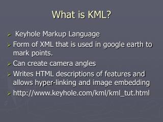 What is KML?