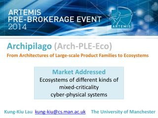 Archipilago (Arch-PLE-Eco) From Architectures of Large-scale Product Families to  Ecosystems