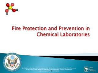 Fire Protection  and Prevention in  Chemical Laboratories