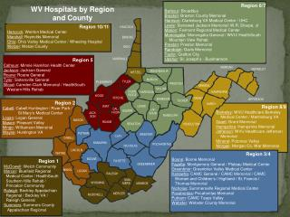 Region 8/9 Berkeley : WVU Healthcare Berkeley      Medical Center / Martinsburg VA