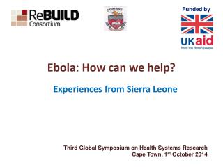 Ebola: How can we help?