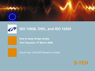 ISO 15926, OWL, and ISO 10303