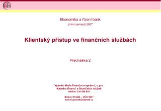 Klientský přístup ve finančních službách
