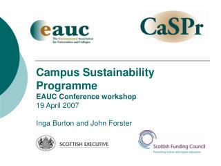 Programme for Workshop