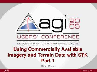Using Commercially Available Imagery and Terrain Data with STK Part 1