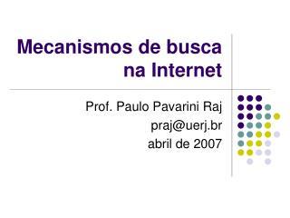 Mecanismos de busca na Internet