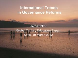 International Trends  in Governance Reforms