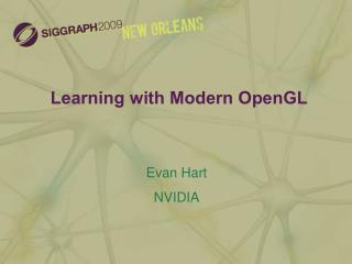 Learning with Modern OpenGL