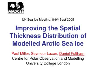Improving the Spatial Thickness Distribution of Modelled Arctic Sea Ice