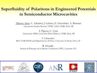 Superfluidity of Polaritons in Engineered Potentials in Semiconductor Microcavities