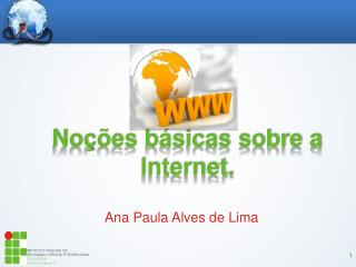 Noções básicas sobre a Internet.