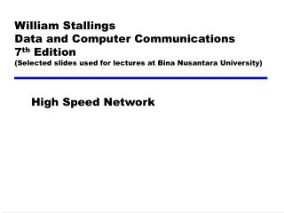 High Speed Network