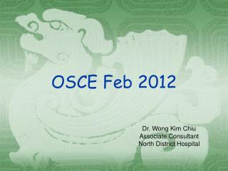 OSCE Feb 2012