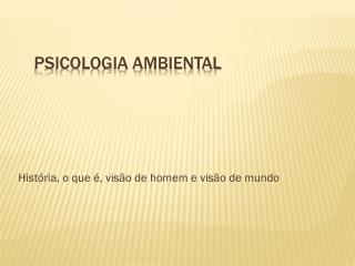 PSICOLOGIA AMBIENTAL