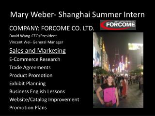 Mary Weber- Shanghai Summer Intern