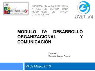 MODULO IV: DESARROLLO ORGANIZACIONAL Y COMUNICACIÓN