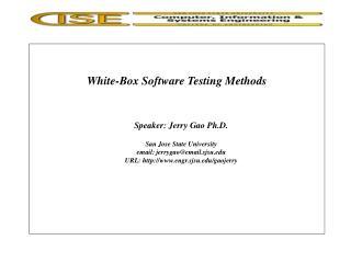 White-Box Software Testing Methods