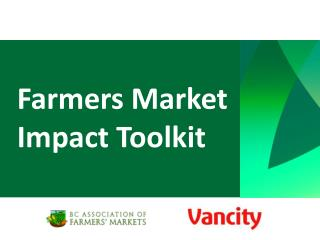 Farmers Market Impact Toolkit