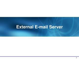External E-mail Server