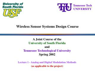 Wireless Sensor Systems Design Course