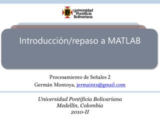 Introducción/repaso a MATLAB