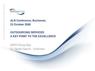 ALB Conference, Bucharest, 23 October 2008