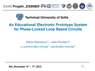 An Educational Electronic Prototype System for Phase-Locked Loop Based Circuits