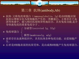 第三章  抗体 (antibody,Ab)