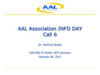 AAL Association  INFO DAY Call 6