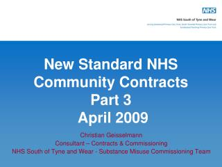 New Standard NHS Community Contracts Part 3  April 2009