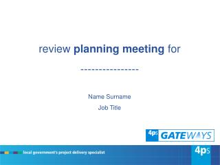 review  planning meeting  for  ----------------