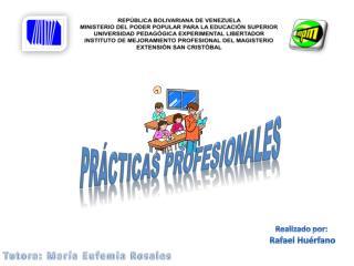 REP�BLICA BOLIVARIANA DE VENEZUELA MINISTERIO DEL PODER POPULAR PARA LA EDUCACI�N SUPERIOR