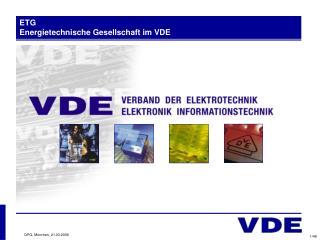 ETG Energietechnische Gesellschaft im VDE