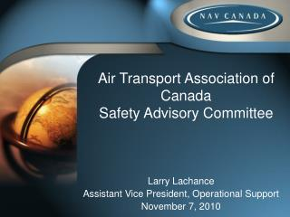 Air Transport Association of Canada Safety Advisory Committee