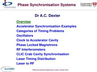 Phase Synchronisation Systems