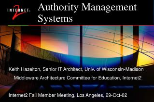 Authority Management Systems