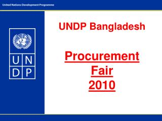 UNDP Bangladesh Procurement Fair  2010