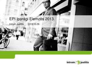 EPI Iparági Elemzés 2013.