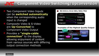 Component Video Switching/Upconversion