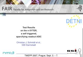 Test Results  on the n-XYTER,  a self triggered,  sparcifying readout ASIC