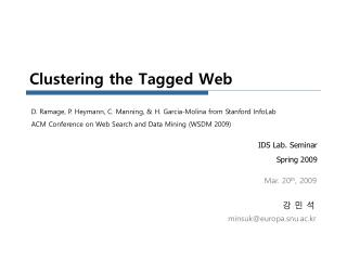 Clustering the Tagged Web