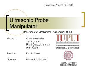 Ultrasonic Probe Manipulator