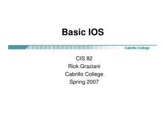 Basic IOS