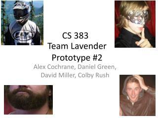 Team Lavender Prototype  #2